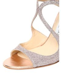 Jimmy Choo - Multicolor 100mm Lang Glittered Sandals - Lyst