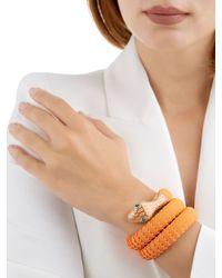 TAMARA DONALLI - Orange Clea Sunrise Snake Wrap Bracelet - Lyst
