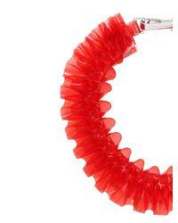 Mary Katrantzou | Red Ruffled Pvc Necklace | Lyst