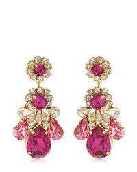 Shourouk - Multicolor Ds Fuchsia Earrings - Lyst