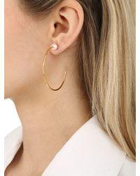 Vita Fede - Metallic Medium Sfera Pearl Hoop Earrings - Lyst