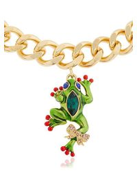 Casadei - Metallic Amazon Jungle Chain Necklace W/ Charms - Lyst