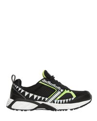Volta Footwear - Black Terra Decor Mesh Sneakers - Lyst