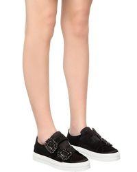 Roger Vivier - Black 20mm Sneaky Viv Buckled Satin Sneakers - Lyst