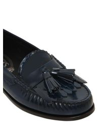 Tod's - Blue 20mm Città Brushed Leather Loafers - Lyst
