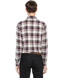 Saint Laurent - Multicolor Westernhemd Aus Baumwollflannell for Men - Lyst