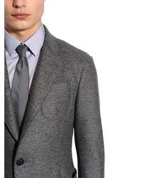 Giorgio Armani - Gray 8cm Striped Silk Tie for Men - Lyst