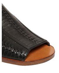 Daniele Michetti - Black Woven Leather Sandals - Lyst