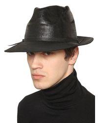 Move - Black Waxed Wool Felt Hat for Men - Lyst