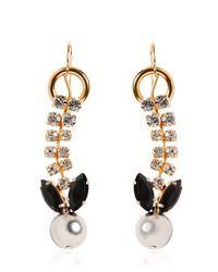 Marni - Metallic Jeweled Crystal Earrings - Lyst