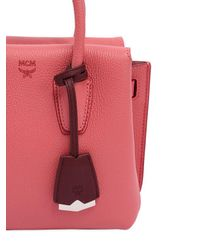 MCM - Pink Mini Milla Leather Top Handle Bag - Lyst