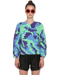 Helen Rodel - Green Hand Crocheted Cotton Sweater - Lyst