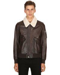 Belstaff - Multicolor Arne Leather Aviator Jacket for Men - Lyst