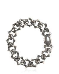 Emanuele Bicocchi | Metallic Silver Chain Bracelet | Lyst