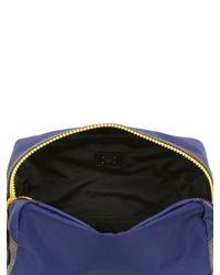 Dolce & Gabbana - Blue Nylon & Dauphine Leather Toiletry Bag - Lyst