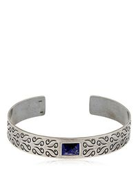 MARCO DAL MASO - Metallic Ara Silver Bracelet W/ Lapis Lazuli - Lyst