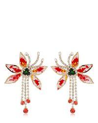 Shourouk - Metallic Flower Amelia Earrings - Lyst