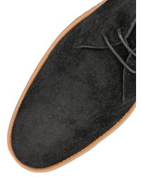 Tod's - Black Leather & Natural Rubber Chukka Boots for Men - Lyst
