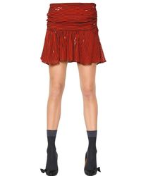 Étoile Isabel Marant - Red Striped Viscose Crepe Skirt - Lyst