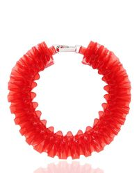 Mary Katrantzou | Red Ruffled Pvc Necklace | Lyst