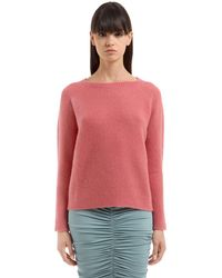 Max Mara - Pink Zeno Cashmere & Silk Knit Sweater - Lyst