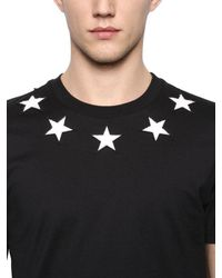 Givenchy - Black Cuban Star Patches Jersey T-shirt for Men - Lyst