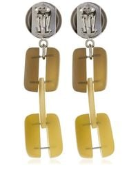 Marni - Yellow Horn Chain Clip-on Earrings - Lyst
