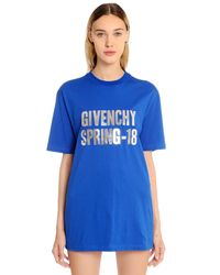 Givenchy - Blue Oversized Spring 18 Print Jersey T-shirt - Lyst