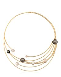Sharra Pagano | Metallic Faux Pearl Necklace | Lyst