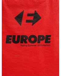 "Balenciaga - Red Tote Bag En Cuir ""supermarket Europa"" for Men - Lyst"