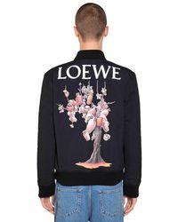 Loewe - Blue Printed Nylon Bomber Jacket for Men - Lyst
