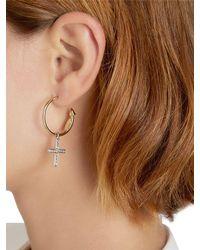 Schield | Metallic Charms Cross Earrings | Lyst