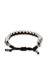 Cantini Mc Firenze - Metallic Skulls & Spheres Silver Bracelet - Lyst