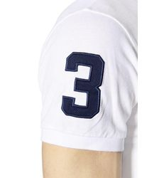 Polo Ralph Lauren - White Slim Big Pony Cotton Piqué Polo Shirt for Men - Lyst