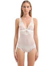 La Perla - White Lace Bodysuit - Lyst