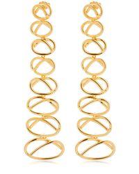 Joanna Laura Constantine - Metallic Knot Dangling Earrings - Lyst