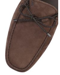 Tod's - Brown Gommino 122 My Color Nubuck Driving Shoe for Men - Lyst
