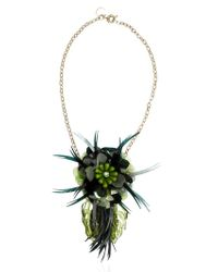 Matthew Williamson - Green Palm Necklace - Lyst
