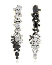Iosselliani - Black Optical Memento Swarovski Earrings - Lyst
