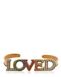 Gucci - Loved Multicolor Crystals Hand Bracelet - Lyst