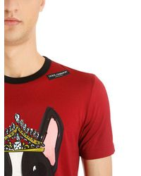 Dolce & Gabbana - Red Year Of The Dog Cotton Jersey T-shirt for Men - Lyst