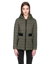 Mackage - Green Kaila Lightweight Down Coat With Insert At Waist And Collar - Lyst