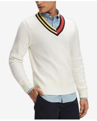 Tommy Hilfiger - White Hunter Sweater, Created For Macy's for Men - Lyst