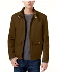 Kenneth Cole - Multicolor Wool-blend Bomber Coat for Men - Lyst