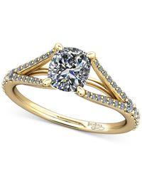 Macy's - Metallic Diamond Split Shank Mount Setting (1/4 Ct. T.w.) In 14k Rose Gold - Lyst
