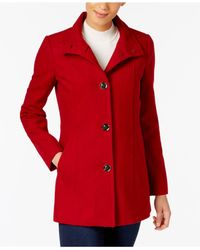 INC International Concepts - Red Stand-collar Peacoat - Lyst