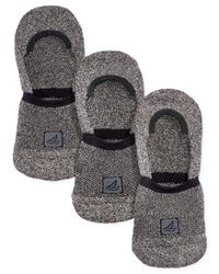Sperry Top-Sider - Black Athletic Compression Liner Socks 3-pack for Men - Lyst