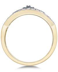 Macy's - Metallic Diamond Evil Eye Ring (1/6 Ct. T.w.) In 10k Gold - Lyst