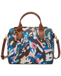 Fossil - Blue Fiona Printed Satchel - Lyst
