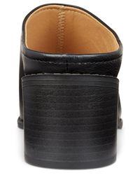 Esprit Black Lena Block-heel Slide Sandals
